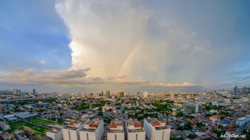rainbow over bangkok thailand